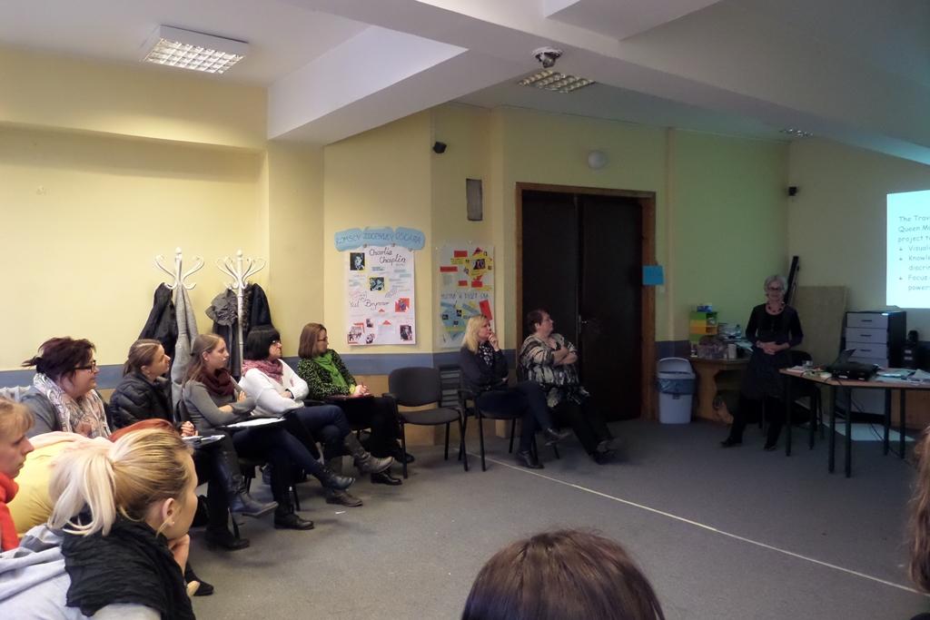 Prezentacja projektu w Domu Spotkań Angelusa Silesiusa.