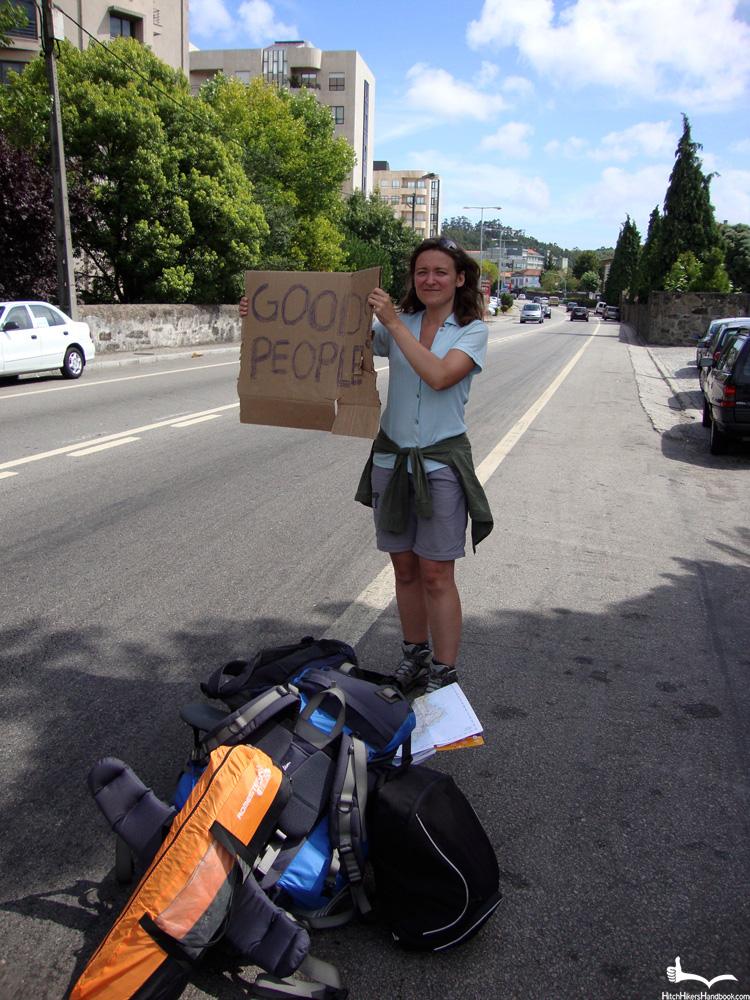 Ania łapiąca stopa w Portugalii 2012
